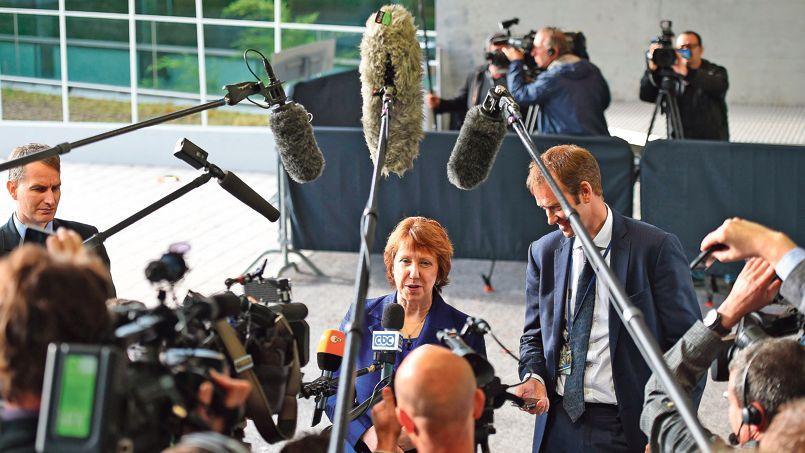 La haute représentante de l'UE, Catherine Ashton, à Luxembourg.
