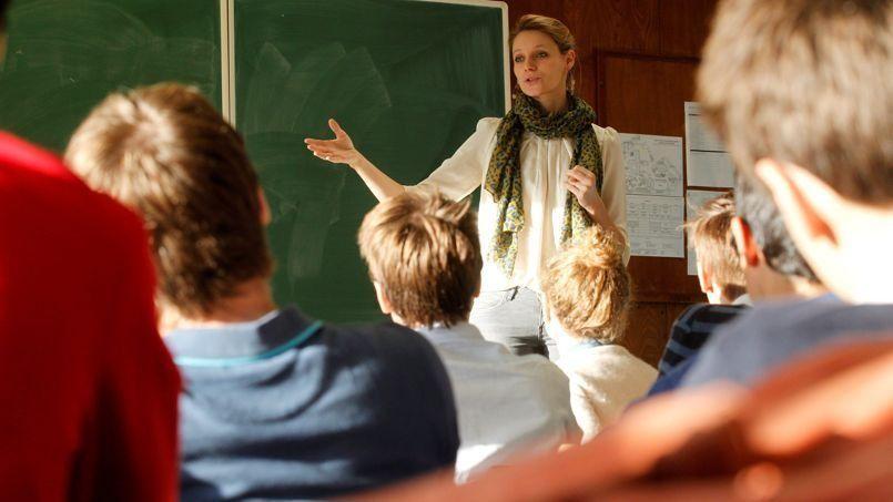La sexologue Thérèse Hargot-Jacob intervient de la maternelle aux classes prépa de l'établissement privé Stanislas , à Paris. Crédits photo: Jean-Christophe MARMARA/JC MARMARA/LE FIGARO