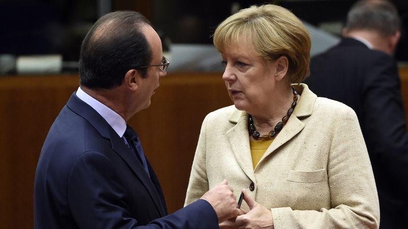 François Hollande et Angela Merkel au Sommet européen, le 24 octobre.