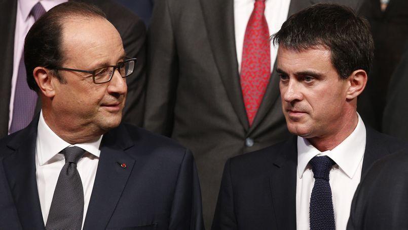 Le président François Hollande et son premier ministre Manuel Valls