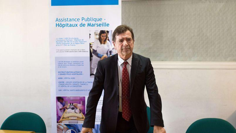 Jean-Jacques Romatet, le directeur général de l'Assistance publique des hôpitaux de Marseille.Les créances de l'établissement atteignent un milliard d'euros, soit 70% de ses recettes.