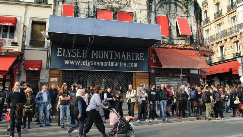 La façade de l'Elysée Montmartre en mars 2011.