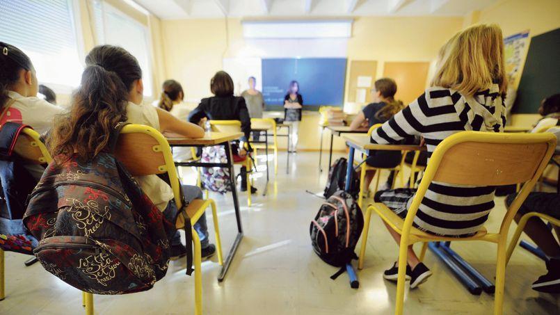 Rentrée des classes dans un collège de Nancy. Dans le second degré, plus de 12% des postes ouverts par le ministère de l'Éducation nationale n'ont pas été pourvus au Capes.