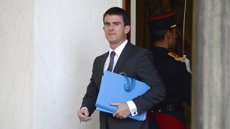 Manuel Valls à l'Élysée mercredi.