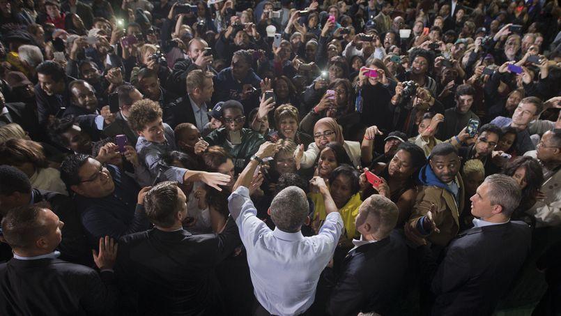 Barak Obama, samedi, à Détroit, est venu soutenir les candidats démocrates au Sénat et à la Chambre des représentants.