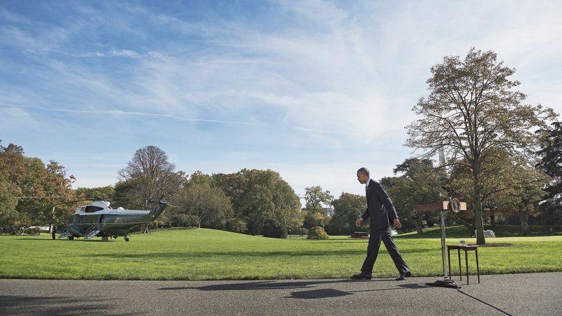 Barack Obama à Washington, le 28 octobre. Le président des États-Unis, qui n'a plus de majorité à la Chambre des représentants, pourrait voir le Sénat lui échapper également.