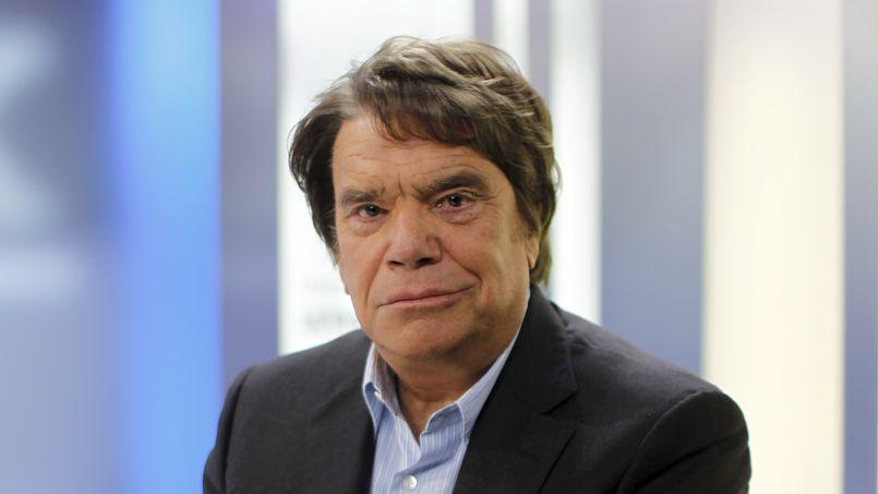 Bernard Tapie lors de son passage au «Talk Orange-Le Figaro», le 3 mai 2013.