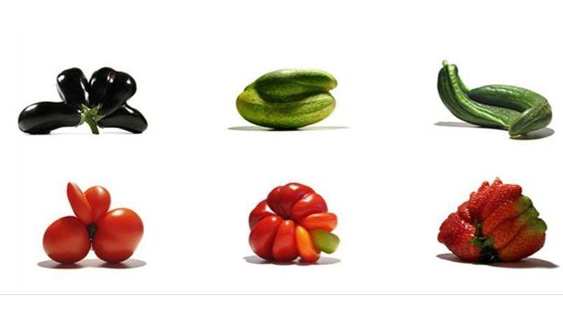 Après la réhabilitation des «légumes moches», on pourra bientôt trouver en rayon des spaghetti trop blanches, des saucisses trop petites, des chocolats écornés et de bas morceaux pour la viande. Capture d'écran du site www.lesgueulescassees.org.