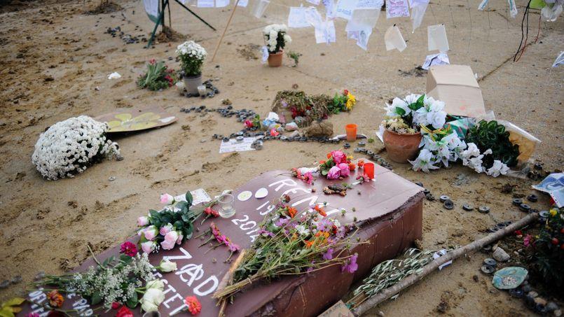 Hommage rendu à Rémi Fraisse par les militants écologistes le 6 novembre 2014 à Lisle-sur-Tarn.
