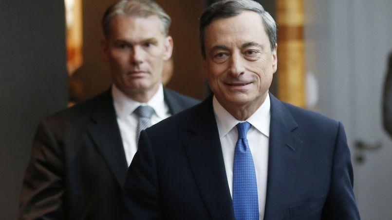 Mario Draghi à Francfort, jeudi.