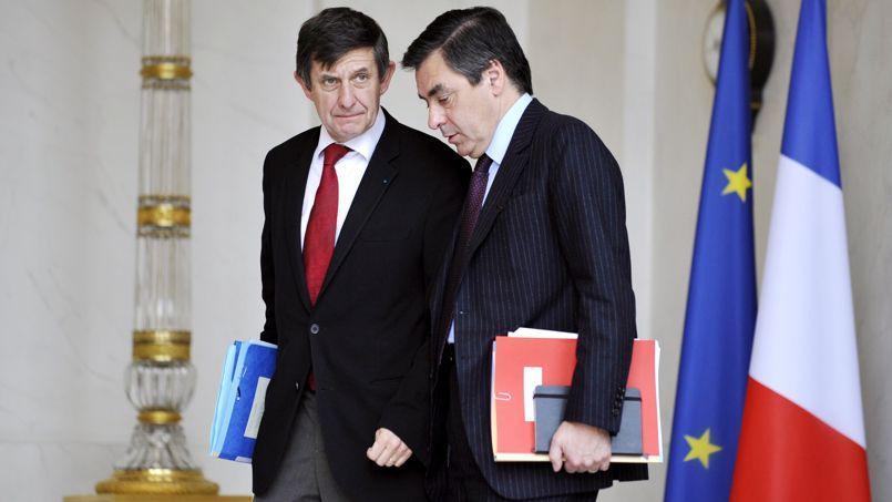 Jean-Pierre Jouyet et François Fillon à l'Élysée, en 2008.