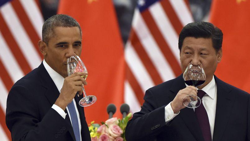 Barack Obama et son homologue chinois, le président Xi Jinping.