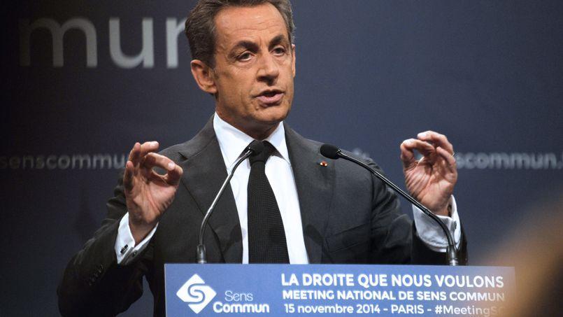 Nicolas Sarkozy au meeting de Sens commun ce samedi 15 novembre