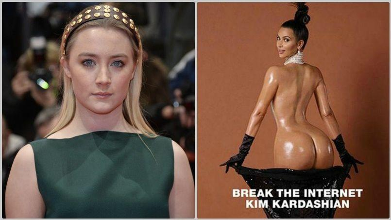 Saoirse Ronan se dit dégoûtée par la photographie de Kim Kardashian.
