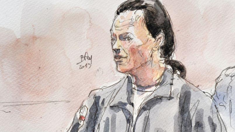 Tony Meilhon dessiné lors de son procès, le 22 mai 2013.