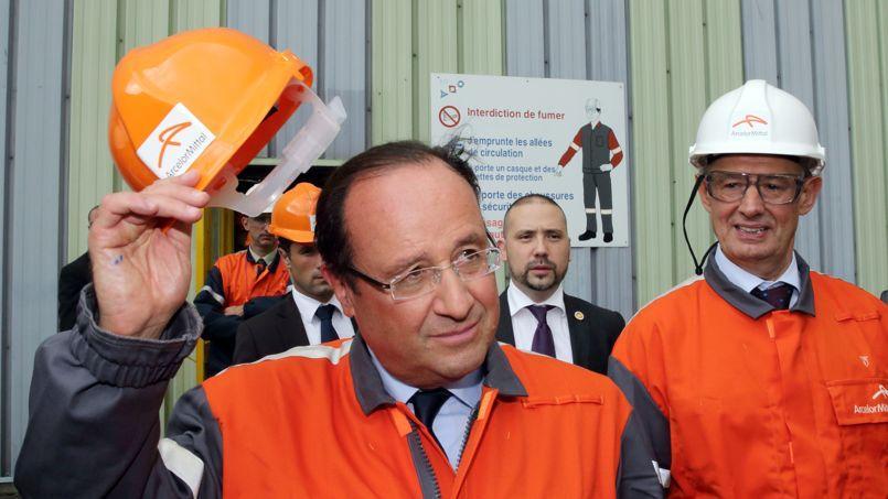 François Hollande, lors de sa précédente visite à Florange, en septembre 2013.