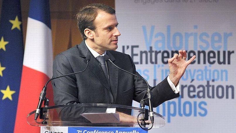 Le ministre de l'Economie, Emmanuel Macron, à la 7ème conférence des Entrepreneurs, lundi à Paris. (Crédit/AFP)