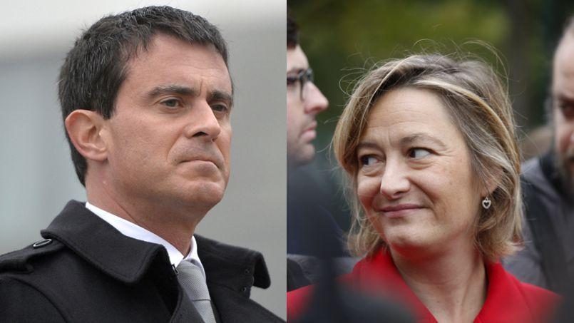 Manuel Valls et Ludovine de la Rochère.