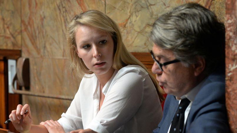Les députés RBM Marion Maréchal Le Pen et Gilbert Collard