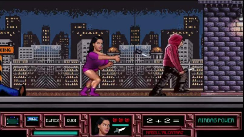 Capture d'écran du jeu vidéo Nabilla Prison Boobs.