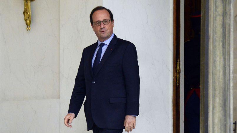 François Hollande à l'Elysée.