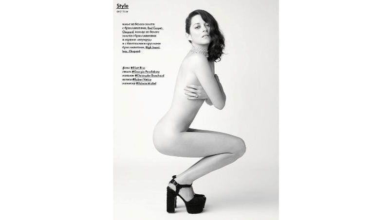Marion Cotillard en Une du magazine russe SNC.