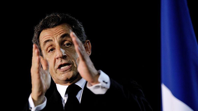 Nicolas Sarkozy, lundi, près d'Angers.