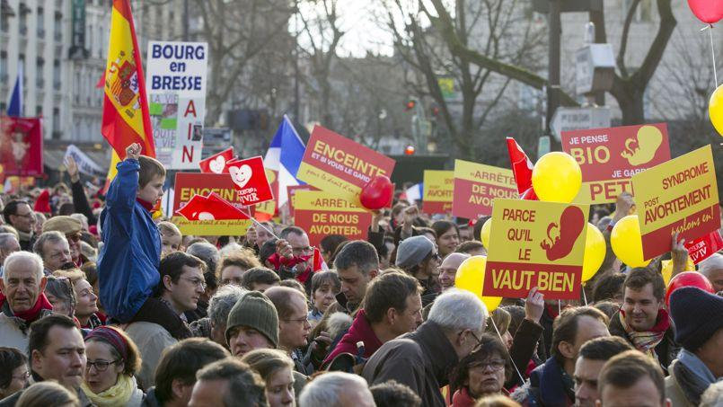 Marche pour la vie à Paris, en janvier.