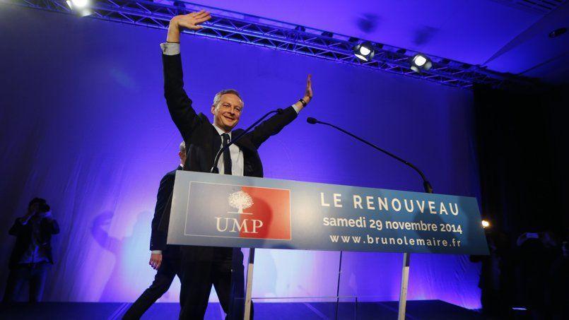 Bruno Le Maire, samedi à son QG de campagne, à l'annonce des résultats du vote pour la présidence de l'UMP.