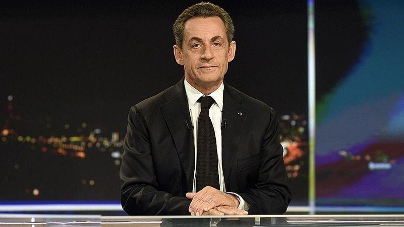 Nicolas Sarkozy, dimanche soir, sur le plateau de TF1.