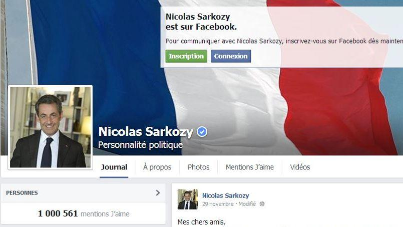 Sarkozy propose à son millionième fan sur Facebook de passer une journée avec lui
