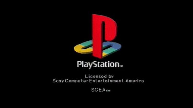 L'écran de lancement de la première Playstation.