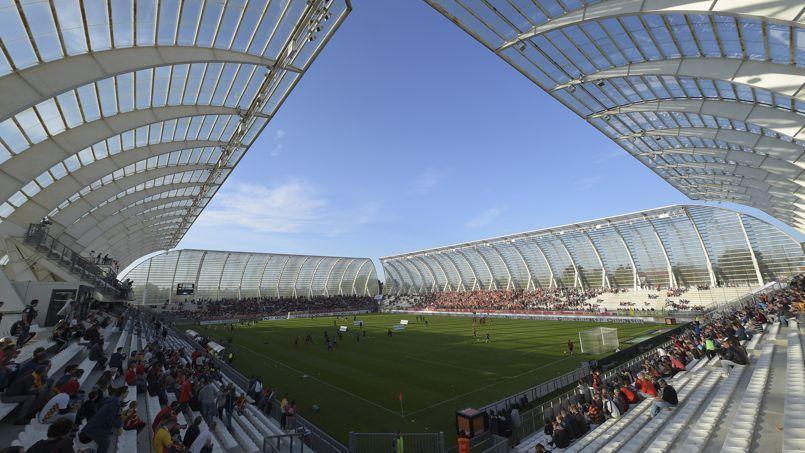 Le Stade de la Licorne d'Amiens où évolue le Racing Club de Lens cette saison.