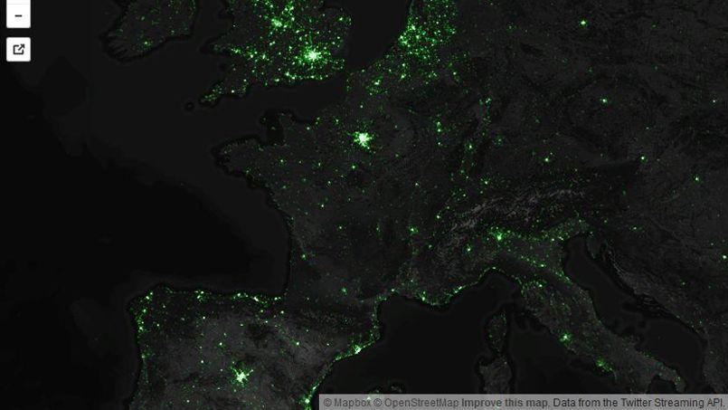 Capture d'écran du site Mapbox.