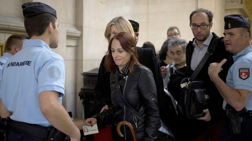L'ex-Femen Éloïse Bouton au tribunal correctionnel de Paris en juillet 2014.
