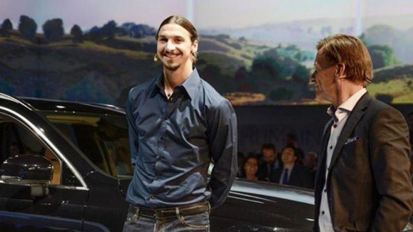 Zlatan Ibrahimovic sur le stand de Volvo lors du dernier Salon de l'automobile en octobre dernier