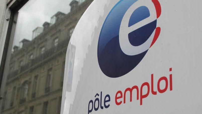 Un logo sur une agence Pôle emploi. (Crédit: le Figaro)