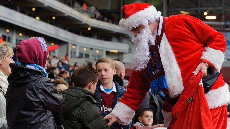 En Premier League, le Père Noël passe le 26 décembre (West Ham-Arsenal en 2014).