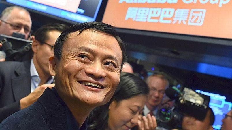 Jack Ma, fondateur du site Internet Alibaba, à New York, lors de l'introduction en Bourse de l'entreprise en septembre 2014. Crédit photo: AFP PHOTO/JEWEL SAMAD/FILES