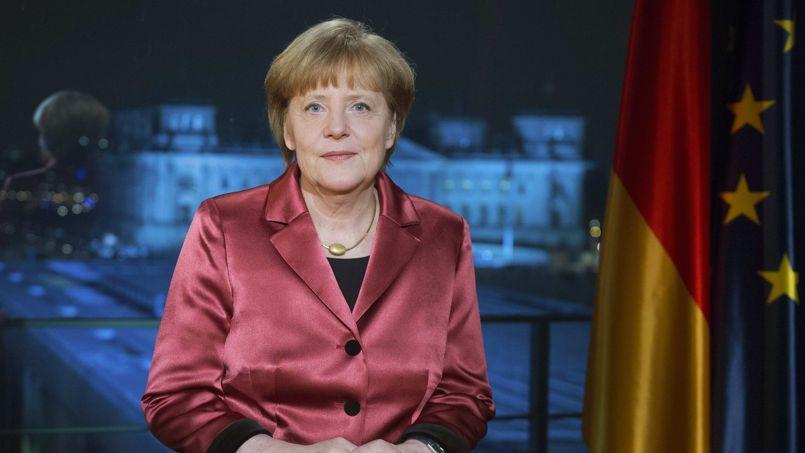 Angela Merkel lors de ses vœux.