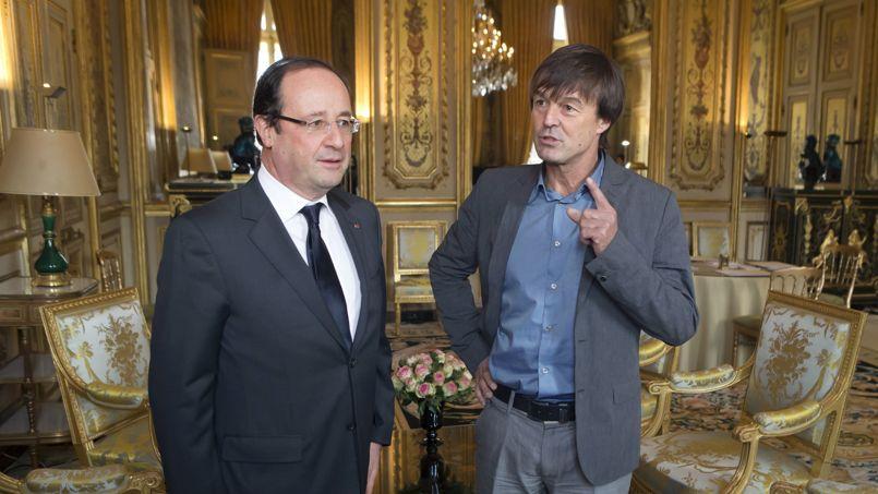 François Hollande et Nicolas Hulot en décembre 2012 au Palais de l'Élysée.