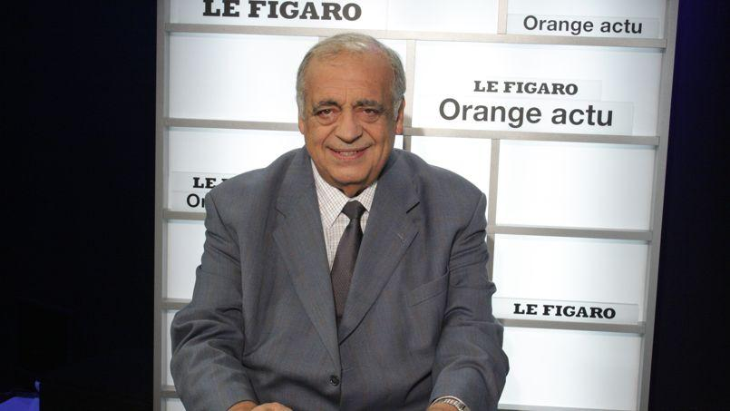 Philippe Séguin au Talk Orange-Le-Figaro en février 2009. Crédits photo: Charlotte RUSSO / Le Figaro