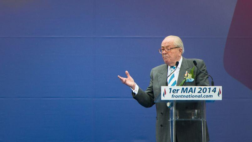 Jean-Marie Le Pen (ici le 1er mai): «Cet attentat est un épisode de la guerre qui nous est faite par l'islamisme.»