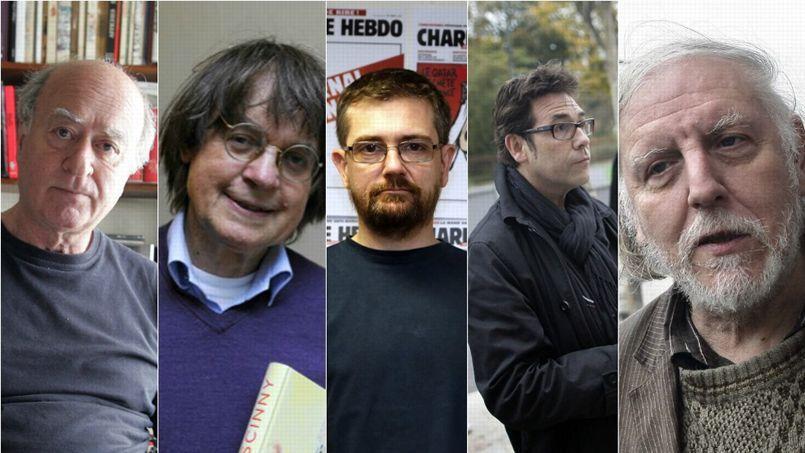 Les dessinateurs Cabu, Tignous, Charb et Wolinski, ont été victimes de la tuerie perpétrée ce matin au siège du journal Charlie Hebdo.