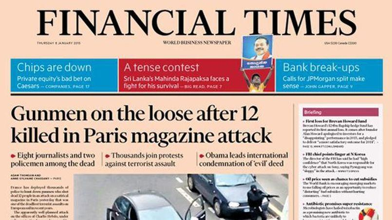 Une du Financial Times © Twitter/FT