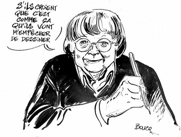 Dessin réalisé par Boucq réalisé pour Le Figaro.