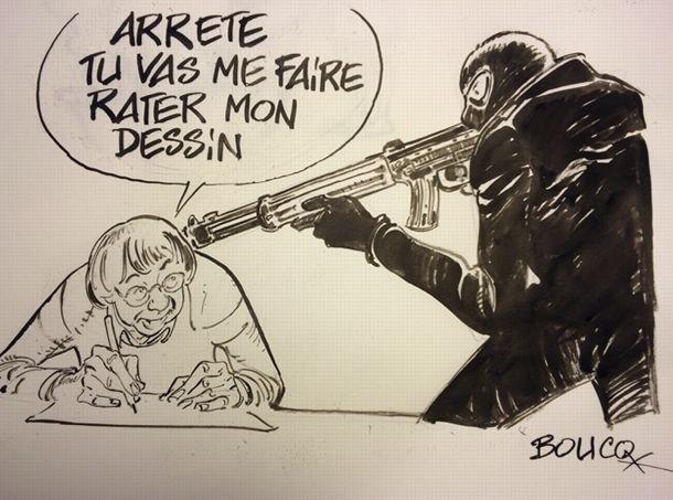 Dessin réalisé par Boucq pour Le Figaro.