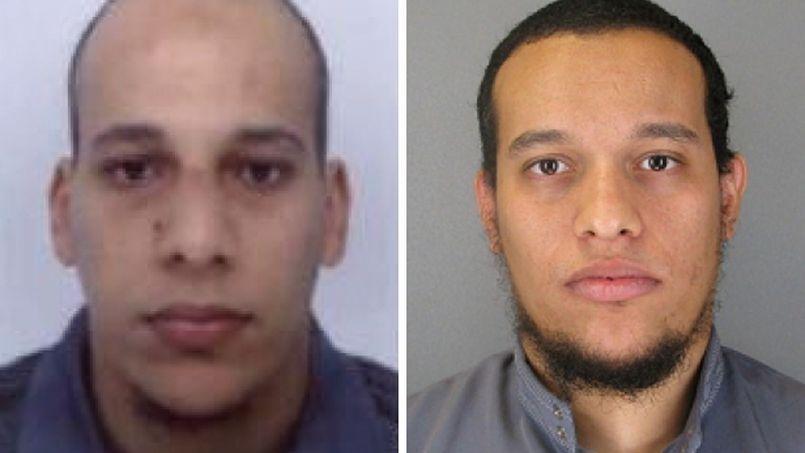 Chérif et Saïd Kouachi, les deux auteurs de l'attentat du 7 janvier contre Charlie Hebdo.