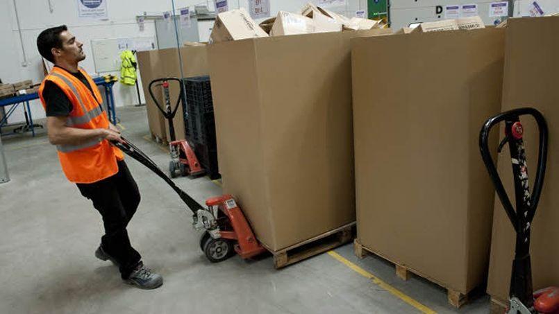 Les métiers du BtoB concernent notamment la logistique (Crédit: Le Figaro/Vincent Boizon)