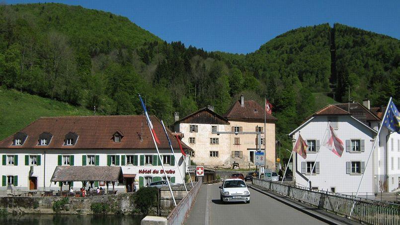 La frontière franco-suisse.